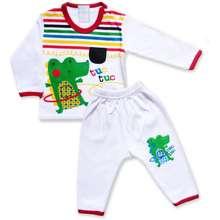 Skabe Baby Putih Piyama Bayi Baju Tangan Panjang Anak Bayi Laki Laki Setelan Kaos 2767