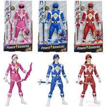 Power Rangers Pink Blue Red Ranger Morphin Super Hero 12 Inch Action Figure Mainan Anak Original