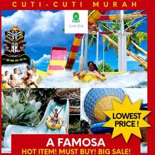 Melaka A'famosa Theme Park 【MYKAD Child / FOREIGNER Child – Weekday】Melaka / Malacca: A Famosa Theme Parks – Water Park Admission + LUNCH Ticket – 【BEST PRICE/ LOWEST PRICE / HOT ITEM / BIG SALES / SKIP QUEUE】