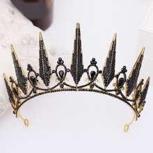 Tiaramanic Wedding Tiara Black One Size