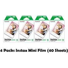 Fujifilm Instax Mini Blank Plain Film (Plain) [4 Packs]