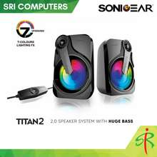 SonicGear Titan 2 Usb 2.0 Speakers With Multicolor Light Effects [Rgb Light & Strong Bass]