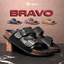 Bravo Brody Sandal Pria Casual Sandal Slop Birken Sol Puyuh Terbaru Mocca 39