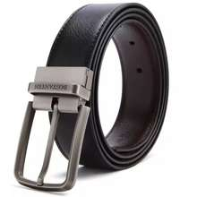 Bostanten 【Cod】 Men'S Belt With Gift Box Black And Brown Dual-Purpose Flip-Type Buckle Head+ Punch Tool