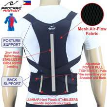 Procare #Bs15 Total Back Support With Posture Aid Unisex