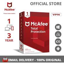 McAfee Total Protection Antivirus Software 1 เครื่อง 3 ปี License