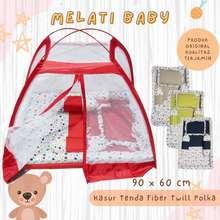 Melati Baby Kasur Bayi Kelambu Tenda Kolam Fiber Set Terbaru / Kasur Baby Tenda Fiber Satu Set Bantal Guling