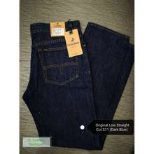 Lois Original Denim Jeans Dark Blue Seluar Jeans Lelaki Straight Cut Biru Gelap Full Classic Kain Denim Ready Stock