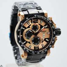 chronoforce jam tangan pria original 5258 black rose gold 1de26a0590