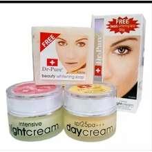 SALE Dr pure Paket Face Whitening Cream BPOM dan Sabun Perawatan Wajah Original Krim Pemutih Pencerah Alami