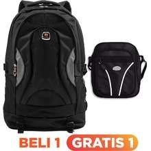 Polo Club Invidia Laptop Backpack + FREE Mini PoloClub Pouch Selempang