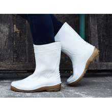 Toyobo Boots Tyb 1688 Sepatu Boot Pendek Putih Seragam Pabrik