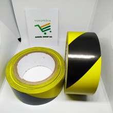 vinyl Lakban Lantai Vynil Police Line Tape Floor Marking Kuning Hitam