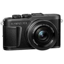 Olympus PEN E-PL10 Black Camera Body with Black M.Zuiko Digital 14-42mm F3.5-5.6 EZ Lens