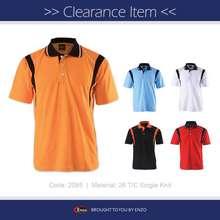 Enzo [Clearance Sales] -2085- Cut & Sew Polo T-Shirt