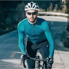 Santic Men Cycling Jersey Long Sleeves Fit Comfortable Sun-Protective Road Bike Tops Mtb Jersey Jerseys