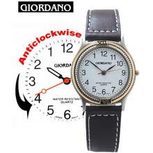 Giordano Men'S Reverse Movement Brown Strap Water Resistant Watch Rs-G5250-Wh