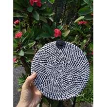 Zebra Tas Selempang Rotan Diameter 15 18 20cm Bali