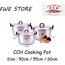 Crocodile CCH Aluminium Cooking Pot (50cm / 55cm / 60cm )