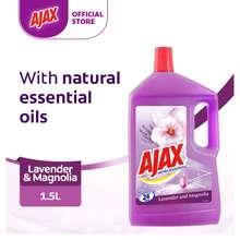 Ajax Aroma Sensations Lavender & Magnolia Multi Purpose Floor Cleaner Eliminates 99.9% Bacteria (1.5L)