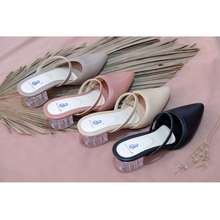 BR Shoes [Cod Ready Stock] 108 Sepatu Wanita High Heels Kaca Transparan Brshoes