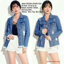 Ladies Fashion Jaket Denim Jeans   Atasan Wanita   Jacket jeans Denim  Oversize   Jaket jeans 804cb94593