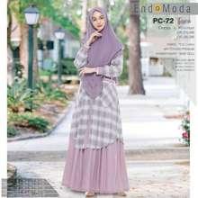 Endomoda Gamus Syari Original Pc 72 By |Gamis Kotak|Gamis Set Hijab|Dress Set Khimar|Dress Muslimah