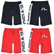 Evisu Text Logo Cotton Shorts (Premium Quality)