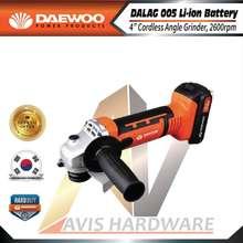 Daewoo Power Products Daewoo Angle Grinder Cordless 18v DALAG005 2pcs Battery