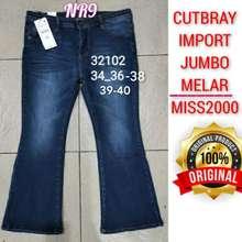 VJ Jeans Jeans Jumbo Wanita Import/ Cutbray Jeans Wanita Jumbo/ Jeans Vj Original