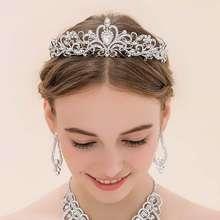 Bridal Bridesmaid Wedding Prom Crystal Rhinestone Diaman Crown Tiara Headband