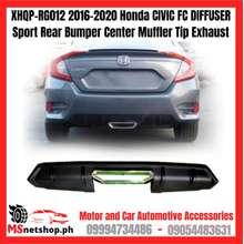 Honda Xhqp-Rg012 2016-2020 Civic Fc Diffuser Sport Rear Bumper Center Muffler Tip Exhaust
