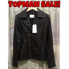 Topman Leather Biker Jacket - Jaket Kulit Original