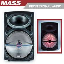 """Mass 12"""" Led Party Speaker With Bluetooth, Usb, Micro Sd, Fm, Aux And Free Wireless Mic Ms-5512Bt"""