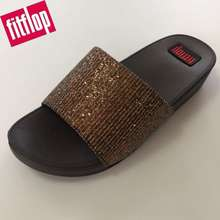 FitFlop Sequins Sandels For Women 4Cm Heal Daily Flip-Flops Casual Slippers Women Shoes E-002