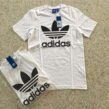 adidas เสื้อยืดคอกลม สีขาว Adidas