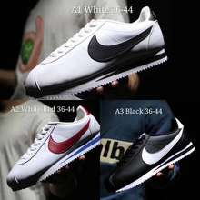 Nike 🌟Ready Stock🌟2017 Classic Cortez Leather Shoes Soft Sole Fast Running