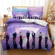 BTS Duvet Cover Set Kpop Korean Singing Group 3D Bed Linens Bedclothes Home Textile Twin Full Queen King Size Bedding Set