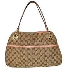 Gucci Monogram Bag With Pink Handles