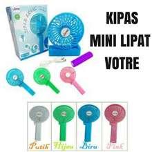 SALE Votre Mini Fan Rechargeable Portable Kipas Lipat Mini + Free Baterai dan Kabel Data - Random