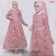 My Kebaya Kebaya Brokat Anggun / Kebaya Gamis modern / Gamis Brokat Muslimah / Kebaya Gamis Brokat (Int:M, dusty)