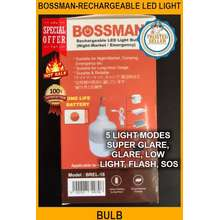 NEW Outdoor Lighting - Bossman-rechargeable LED Light Bulb