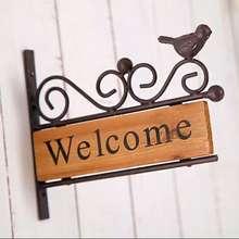 Zakka Vintage Rustic Welcome Signage
