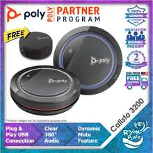 Polycom Poly Calisto 3200 Personal Corded Speaker Usb Conference Meeting Portable Speakerphone With 360 Degree Microphone