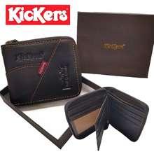 Kickers Ks04/Z  Men Wallet Zip Leather (With Box)Lelaki Dompet Gift Fatherday Quality Baik Timberland Lee Jeep男士短版拉链钱包