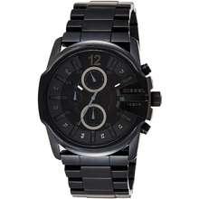 Diesel Mens Master Chief Stainless Steel Quartz Watch Midnight Black