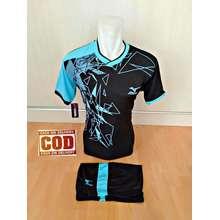 Jersey Baju Kaos Olahraga Setelan Bola Futsal Volly Mz 13 Hitam biru