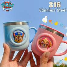 PAW Patrol Children'S Water Cup Home Stainless Steel Cup With Lid Drinking Utensils Cup Kids Stainless