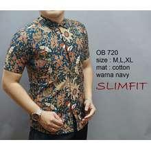 Fit baju batik pria slim modern ob 720 0a4e7865db
