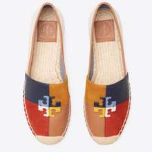 Tory Burch [Original 100%] Espadrille Shoes Logo Patchwork Color